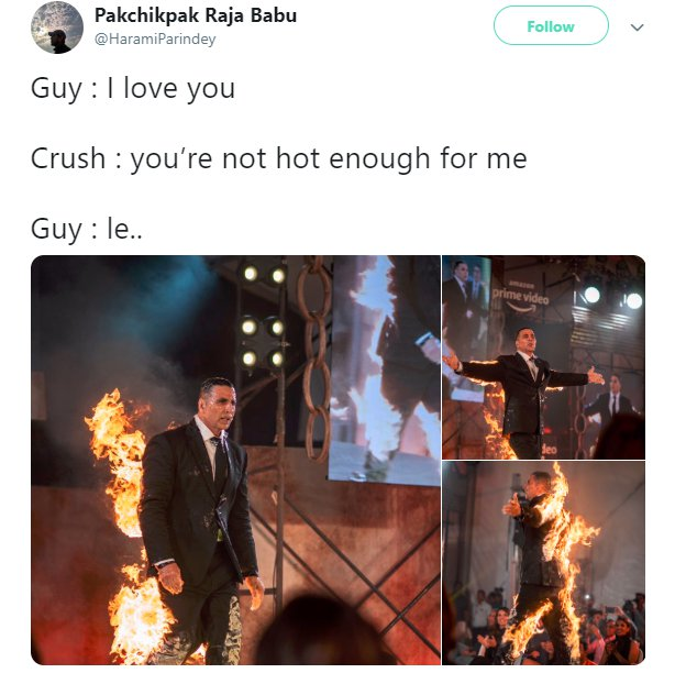 Akshay Kumar Fire HaramiParindey Crush