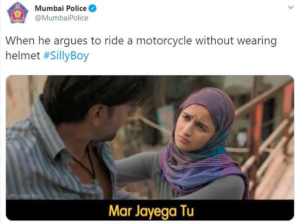 Alia Bhatt Gully Boy MumbaiPolice Helmet