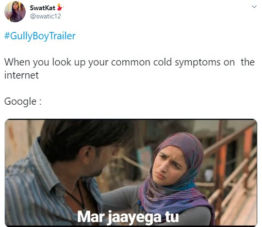 Alia Bhatt Gully Boy Swatic12 Google Symptoms