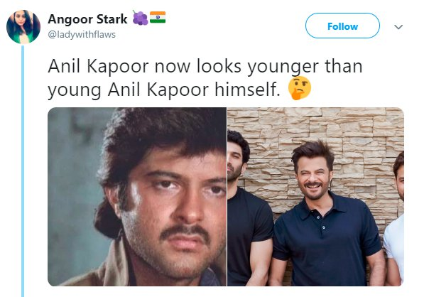 Anil Kapoor Age Ladywithflaws Younger
