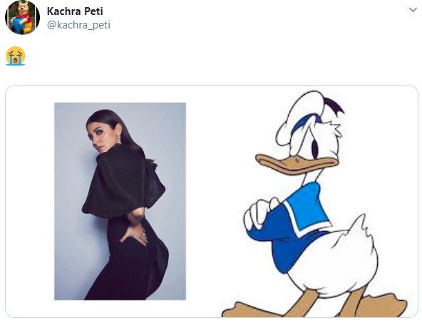 Anushka Sharma Back Donald Duck
