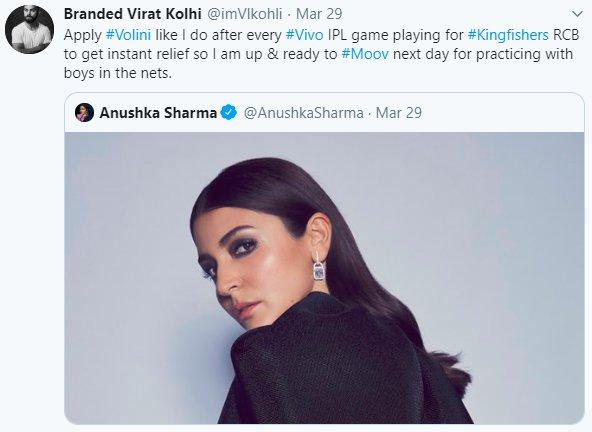 Anushka Sharma Back Kohli Brands