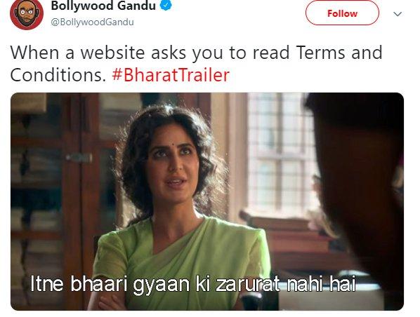 Bharat Trailer Katrina TnC