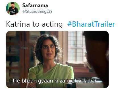 Bharat Trailer Katrina Acting