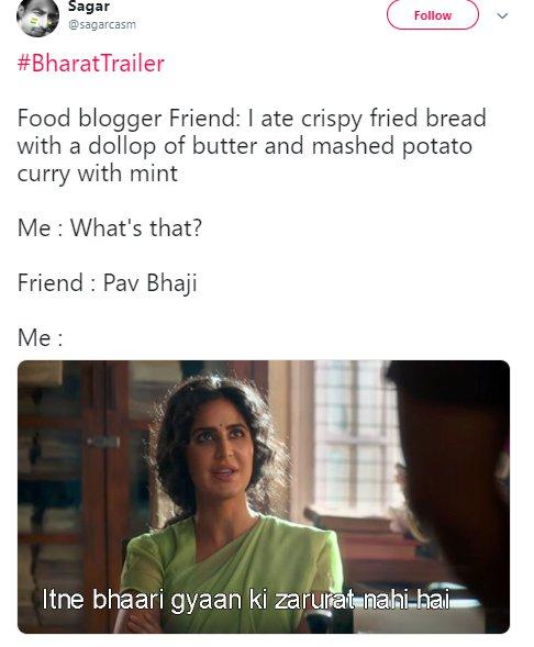 Bharat Trailer Katrina Food Blogger