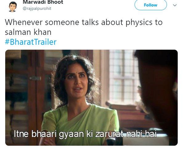 Bharat Trailer Katrina Physics