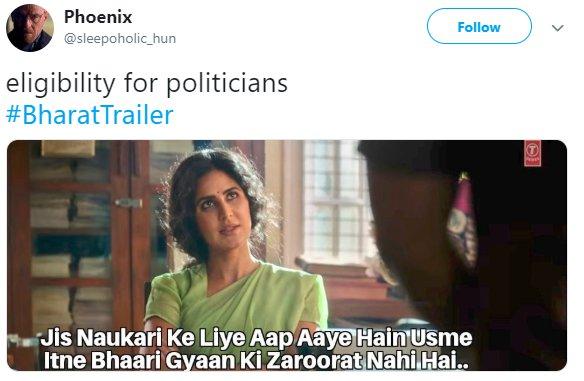 Bharat Trailer Katrina Politicians