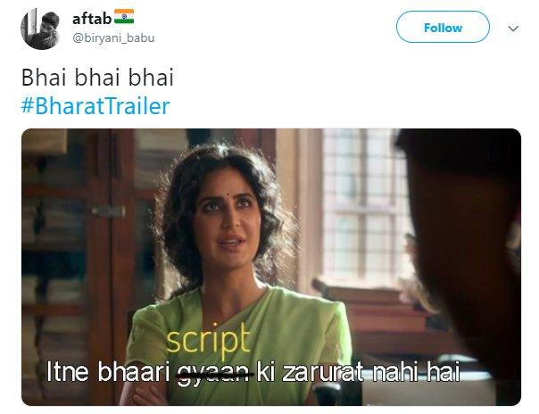 Bharat Trailer Katrina Script