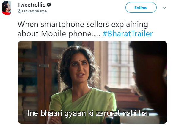 Bharat Trailer Katrina Smartphone