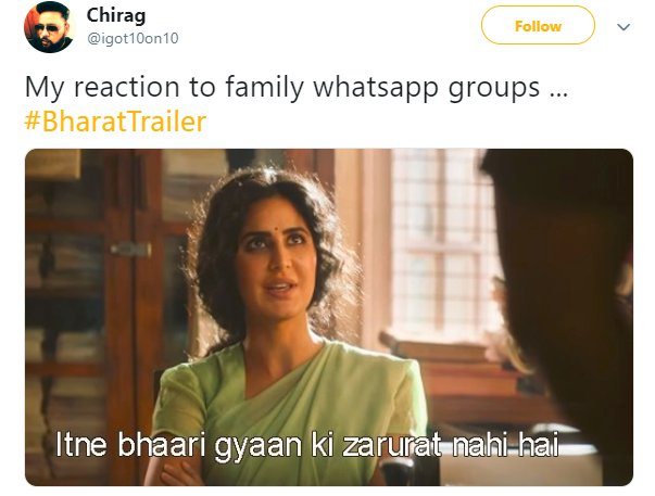 Bharat Trailer Katrina Whatsapp