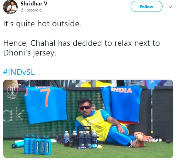 Chahal Chilling Cool Dhoni