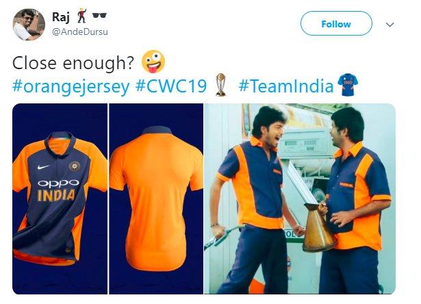 India Orange Jersey Close