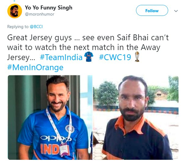 India Orange Jersey Saif