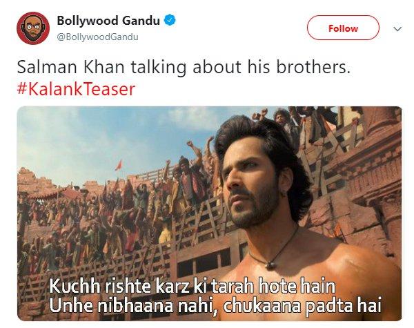 Kalank BollywoodGandu Salman