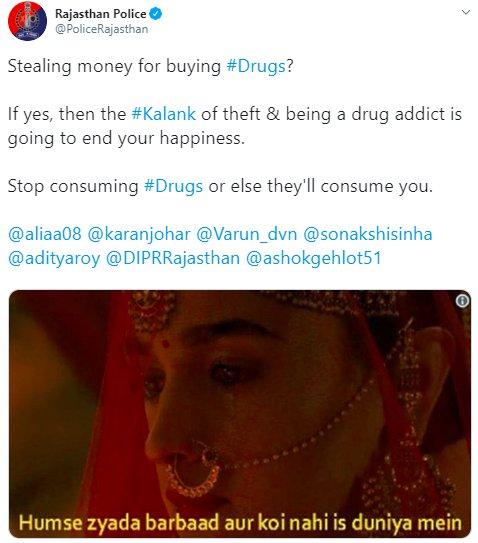 Kalank PoliceRajasthan Drugs