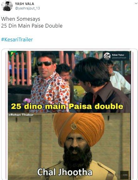 Kesari Trailer Yashrajput_13 Paisa Double