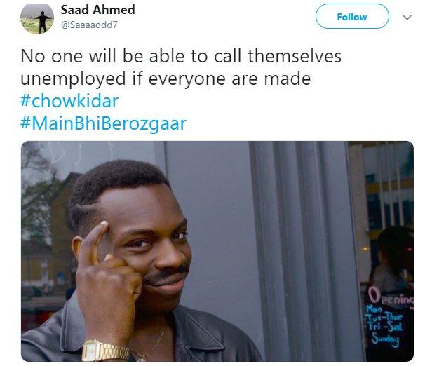 Main Bhi Chowkidar Unemployed
