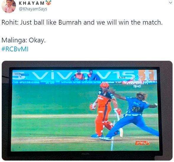 Malinga No Ball Bumrah