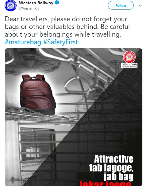 Mature Bag Western Railway
