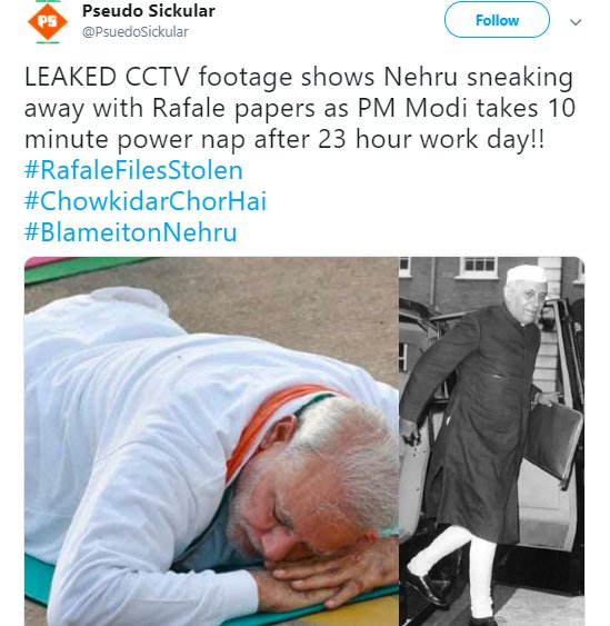 Nehru Rafale PseudoSickular