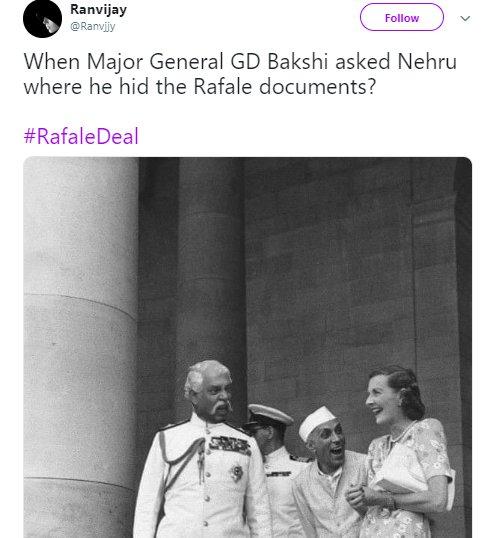 Nehru Rafale Ranvjjy Gd Bakshi