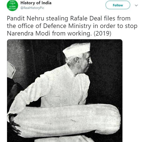 Nehru Rafale RealHistoryPic