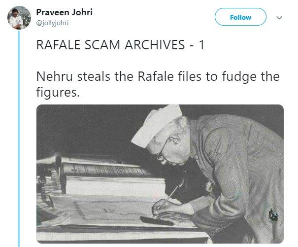 Nehru Rafale Jollyjohri