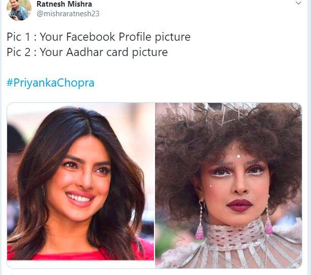 Priyanka Chopra Met Gala Aadhaar
