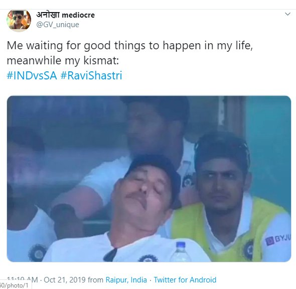 Ravi Shastri Napping 007