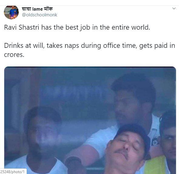 Ravi Shastri Napping 008