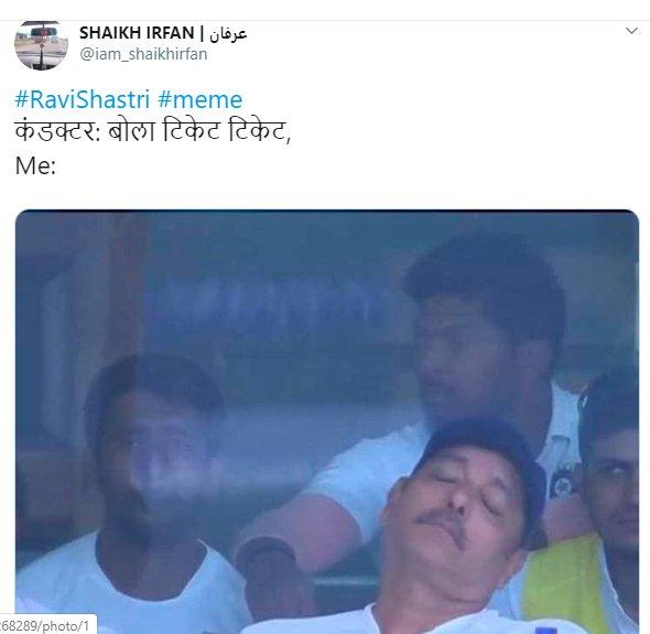 Ravi Shastri Napping 009
