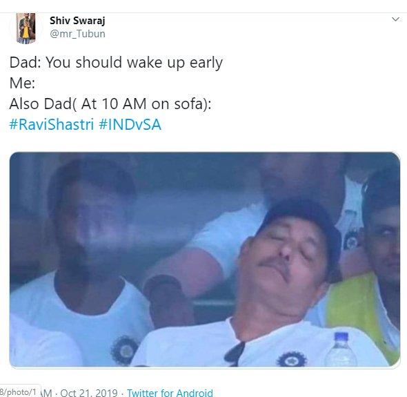 Ravi Shastri Napping 011