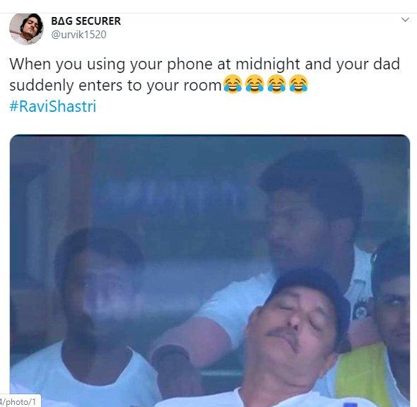 Ravi Shastri Napping 013