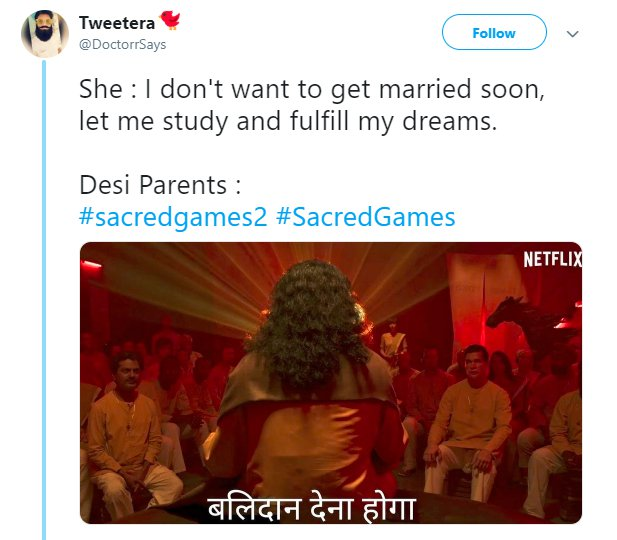 Sacred Games 2 Trailer Balidan Marriage