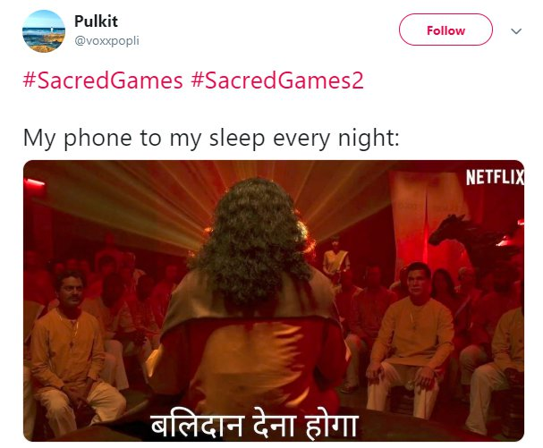 Sacred Games 2 Trailer Balidan Phone Sleep