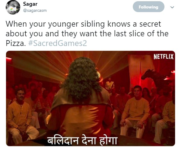 Sacred Games 2 Trailer Balidan Pizza