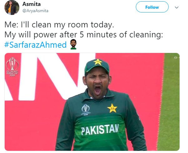 Sarfaraz Yawn Cleaning