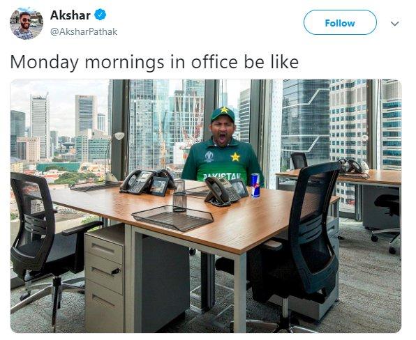 Sarfaraz Yawn Monday
