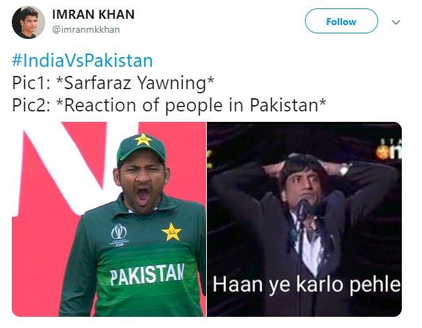 Sarfaraz Yawn Reaction