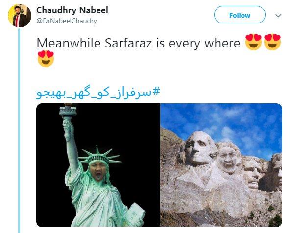 Sarfaraz Yawn Statue