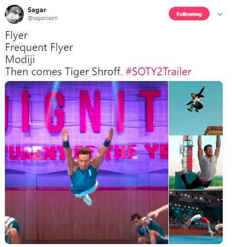 Student of the Year 2 Trailer Frequent Flyer