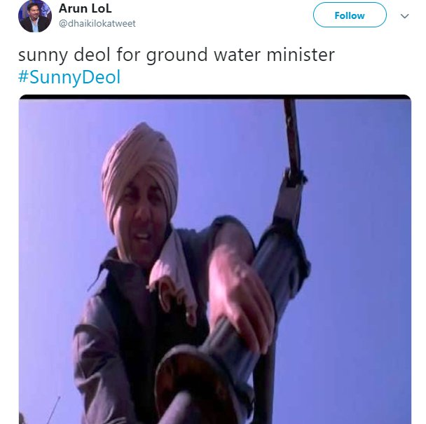 Sunny Deol Bjp Water Minister