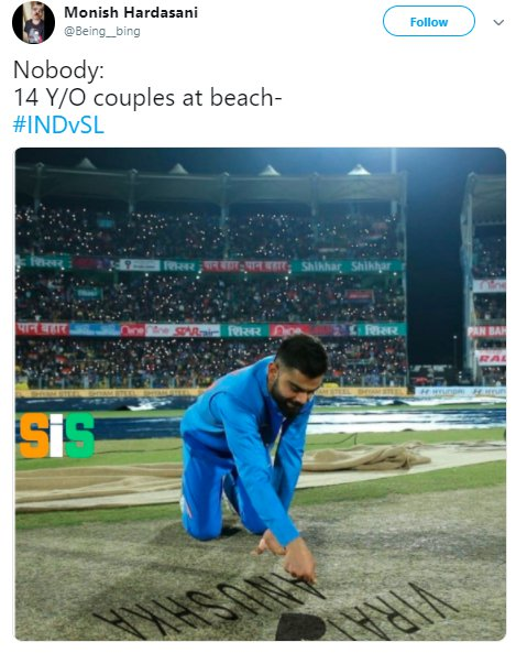 Virat Kohli Pitch Inspection 009
